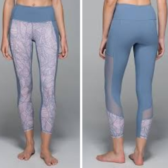 ce69cdaef2514 lululemon athletica Pants - Seek The Heat (Blue Denim/Banana Leaf Blush) -
